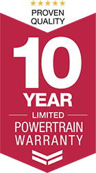 Learn about our 10-year limited powertrain warranty.